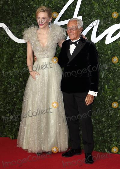 CATE BLANCHETTE Photo - London UK Giorgio Armani and Cate Blanchett at the Fashion Awards 2019 at Royal Albert Hall London December 2nd 2019 Ref LMK73-J5890-031219Keith MayhewLandmark MediaWWWLMKMEDIACOM