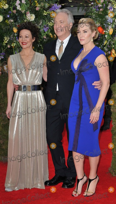 Alan Rickman Photo - London UK  130415Helen McCrory Alan Rickman  Kate Winslet  at the A Little Chaos UK film premiere held at the Odeon Kensington Cinema Kensington High Street13 April 2015Ref LMK315-50947-140415Can NguyenLandmark MediaWWWLMKMEDIACOM