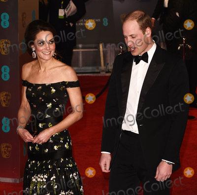 Prince William Photo - London UK HRH Catherine Duchess of Cambridge and HRH Prince William Duke of Cambridge at the EE British Acadamy Film Awards (BAFTAs) at The Royal Albert Hall on Sunday 12 February 2017 Ref LMK392 -61671-130217Vivienne VincentLandmark Media WWWLMKMEDIACOM