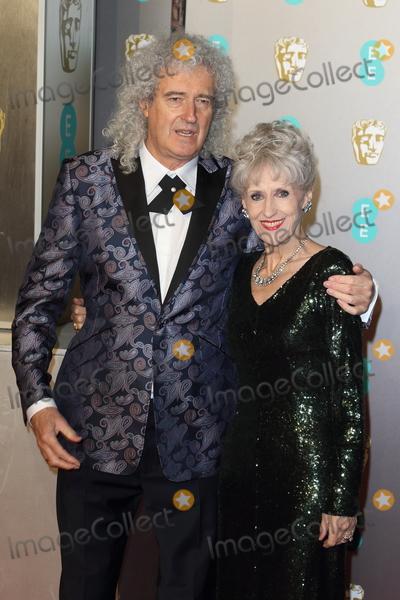 Anita Dobson Photo - London UK Brian May and Anita Dobson at EE British Academy Film Awards 2019 at the Royal Albert Hall Kensington London on Sunday February 10th 2019Ref LMK73-J4348-110219Keith MayhewLandmark MediaWWWLMKMEDIACOM
