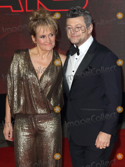 Andy Serkis Photo - London UK Lorraine Ashbourne and Andy Serkis at Star Wars Episode VIII The Last Jedi European Premiere at the Royal Albert Hall Kensington Gore London on Tuesday 12 December 2017Ref LMK73-J1294-131217Keith MayhewLandmark MediaWWWLMKMEDIACOM