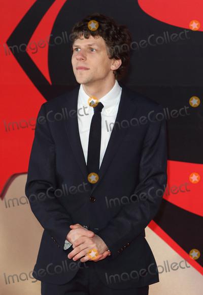Jesse Eisenberg Photo - London UK Jesse Eisenberg at European Premiere of Batman v Superman - the Dawn of Justice Odeon Leicester Square London on March 22nd 2016Ref LMK73-60105-230316Keith MayhewLandmark Media WWWLMKMEDIACOM