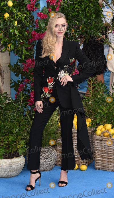 Amanda Seyfried Photo - London UK  Amanda Seyfried at The World Premiere of Mamma Mia Here We Go Again held at Eventim Apollo Hammersmith on Monday 16 July 2018Ref LMK392-J2320-170718Vivienne VincentLandmark Media WWWLMKMEDIACOM