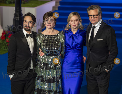 Albert Hall Photo - London UK  Lin-Manuel Miranda Emily Mortimer Emily Blunt and Colin Firth at the European Premiere of Mary Poppins Returns at Royal Albert Hall on December 12 2018 in London EnglandRef LMK386-J4041-131218Gary MitchellLandmark MediaWWWLMKMEDIACOM