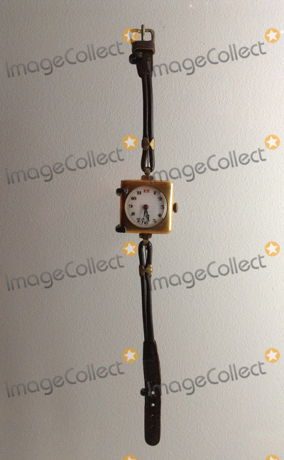The Killers Photo - London UK    A watch that belonged to Edith Thompson executed in January 1923 for her involvement with the killer of her husband Percy Thompson The murderer was Frederick Bywaters her lover at the time who shot Percy Thompson in front of her  One of the exhibits from the London Metropolitan Polices Crime Museum Also known as Scotland Yards Special Collection the Police Museum and once also the Black Museum (in relation to the nature of the crimes) The collection dates from 1874 after a change in the law about keeping items after a trial had finished It was never opened to the public the items retained were for training purposes and also to help other police forces about the importance of crime scenes evidence and detection methods This is the first time a selection from the collection has gone on public display at the Museum of London and will be there until April 2016 The Police Museum is currently at New Scotland Yard 7th October 2015 Ref LMK00-58490-071015Steve BealingLandmark Media WWWLMKMEDIACOM