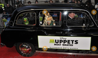 Miss Piggy Photo - London UK Kermit The Frog  Miss Piggy  at the VIP screening of The Muppets Most Wanted at The Curzon Mayfair in London on March 24 2014Ref LMK315-47972-250312Can NguyenLandmark MediaWWWLMKMEDIACOM