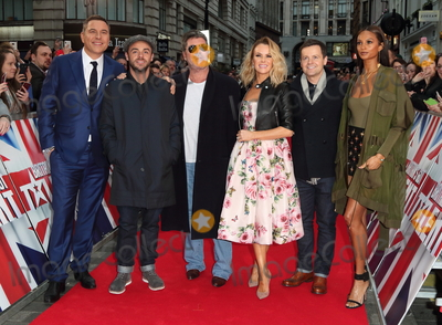 Alesha Dixon Photo - London UK David Walliams Ant McPartlin Simon Cowell Amanda Holden Declan Donnelly and Alesha Dixon at  Britains Got Talent Judges Photocall on the Red Carpet at the London Palladium London on Sunday January 28th 2018Ref LMK73-J1469-290118Keith MayhewLandmark MediaWWWLMKMEDIACOM