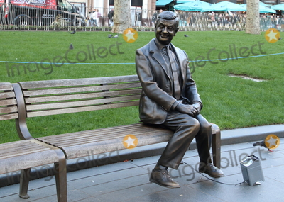 Leicester Square Photo - London UK Mr Bean statue at Launch of a trail of cinematic bronze statues - Scenes in the Square in Londons Leicester Square celebrating the locations rich history as the home of film and marking the squares 350th anniversary February 27th 2020Ref LMK73-J6288-280220Keith MayhewLandmark Media  WWWLMKMEDIACOM