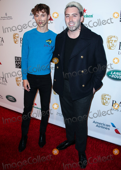 Troye Sivan Photo - BEVERLY HILLS LOS ANGELES CA USA - JANUARY 05 Troye Sivan and Brett McLaughlin arrive at the BAFTA (British Academy of Film and Television Arts) Los Angeles Tea Party 2019 held at the Four Seasons Hotel Los Angeles at Beverly Hills on January 5 2019 in Beverly Hills Los Angeles California United States (Photo by Xavier CollinImage Press Agency)