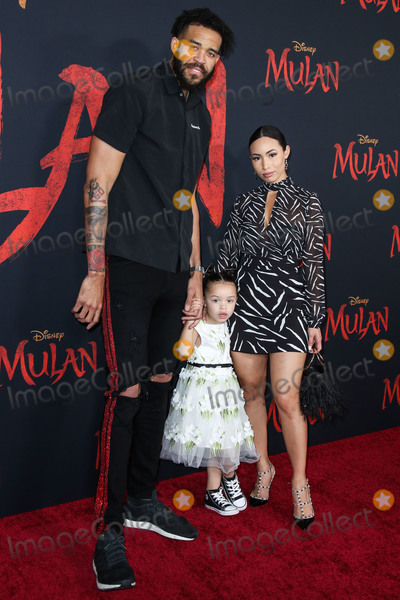 Gisele Photo - HOLLYWOOD LOS ANGELES CALIFORNIA USA - MARCH 09 JaVale McGee daughter Genevieve Grey McGee and partner Giselle Ramirez arrive at the World Premiere Of Disneys Mulan held at the El Capitan Theatre and Dolby Theatre on March 9 2020 in Hollywood Los Angeles California United States (Photo by Xavier CollinImage Press Agency)