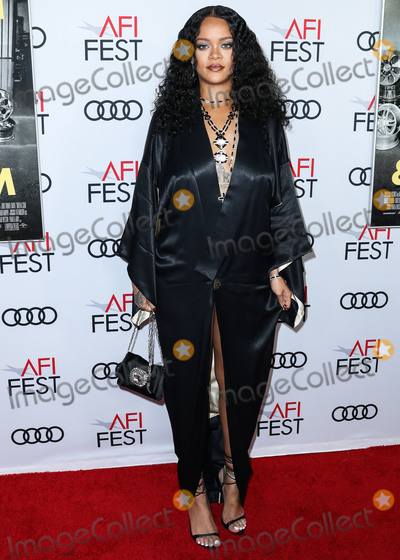 TCL Chinese Theatre Photo - HOLLYWOOD LOS ANGELES CALIFORNIA USA - NOVEMBER 14 Singer Rihanna arrives at the AFI FEST 2019 - Opening Night Gala - Premiere Of Universal Pictures Queen And Slim held at the TCL Chinese Theatre IMAX on November 14 2019 in Hollywood Los Angeles California United States (Photo by Xavier CollinImage Press Agency)