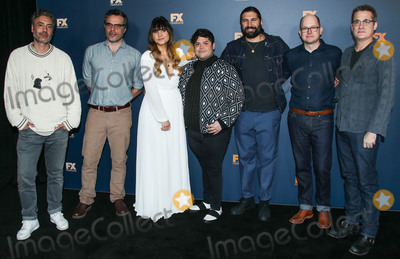 Kayvan Novak Photo - PASADENA LOS ANGELES CA USA - FEBRUARY 04 Taika Waititi Jemaine Clement Natasia Demetriou Harvey Guillen Kayvan Novak Mark Proksch and Paul Simms attend the FX Starwalk - 2019 Winter TCA Press Tour - Day 7 held at The Langham Huntington Hotel on February 4 2019 in Pasadena Los Angeles California United States (Photo by Xavier CollinImage Press Agency)