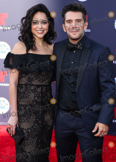 Alyssa Diaz Photo - HOLLYWOOD LOS ANGELES CA USA - OCTOBER 25 Alyssa Diaz Gustavo Galindo at the 2018 Latin American Music Awards held at the Dolby Theatre on October 25 2018 in Hollywood Los Angeles California United States (Photo by Xavier CollinImage Press Agency)