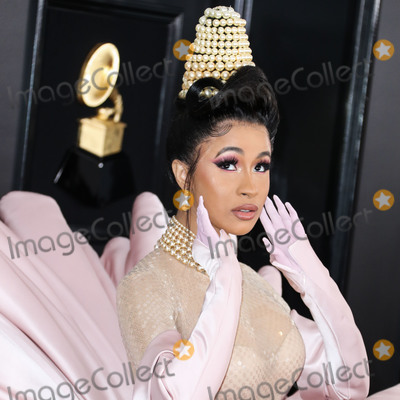 Cardi B Photo - (FILE) Cardi B And Fashion Nova Are Giving Away 1000 Per Hour Amid Coronavirus COVID-19 Pandemic Fashion Nova and Cardi B are donating 1000 every hour for the next 42 days until theyve given away 1 million to those affected by the coronavirus pandemic LOS ANGELES CALIFORNIA USA - FEBRUARY 10 Singer Cardi B (Belcalis Marlenis Almanzar) wearing Mugler with Gismondi1754 jewelry arrives at the 61st Annual GRAMMY Awards held at Staples Center on February 10 2019 in Los Angeles California United States (Photo by Xavier CollinImage Press Agency)