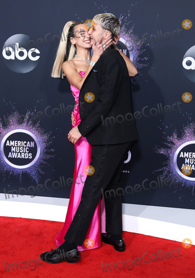 Anwar Hadid Photo - LOS ANGELES CALIFORNIA USA - NOVEMBER 24 Singer Dua Lipa and boyfriend Anwar Hadid arrive at the 2019 American Music Awards held at Microsoft Theatre LA Live on November 24 2019 in Los Angeles California United States (Photo by Xavier CollinImage Press Agency)