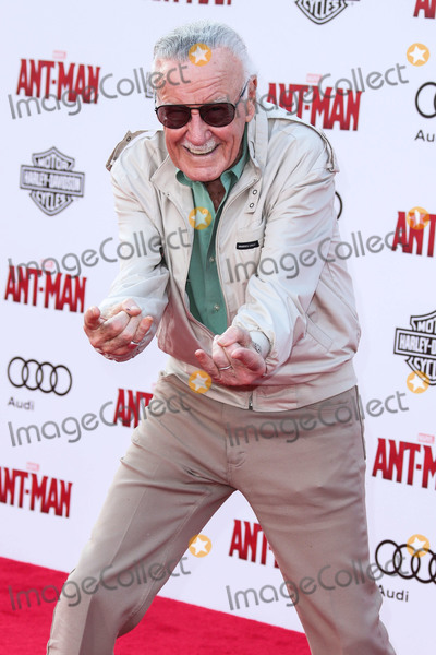 Editors Photo - (FILE) Stan Lee Dies At 95 Stan Lee the legendary writer editor and publisher of Marvel Comics whose fantabulous but flawed creations made him a real-life superhero to comic book lovers everywhere has died He was 95 Lee who began in the business in 1939 and created or co-created Black Panther Spider-Man the X-Men the Mighty Thor Iron Man the Fantastic Four the Incredible Hulk Daredevil and Ant-Man among countless other characters died early Monday morning at Cedars-Sinai Medical Center in Los Angeles a family representative told The Hollywood Reporter HOLLYWOOD LOS ANGELES CA USA - JUNE 29 American comic book writer Stan Lee arrives at the Los Angeles Premiere Of Marvel Studios Ant-Man held at the Dolby Theatre on June 29 2015 in Hollywood Los Angeles California United States (Photo by Xavier CollinImage Press Agency)