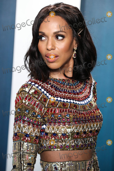 Kerry Bish Photo - BEVERLY HILLS LOS ANGELES CALIFORNIA USA - FEBRUARY 09 Kerry Washington arrives at the 2020 Vanity Fair Oscar Party held at the Wallis Annenberg Center for the Performing Arts on February 9 2020 in Beverly Hills Los Angeles California United States (Photo by Xavier CollinImage Press Agency)