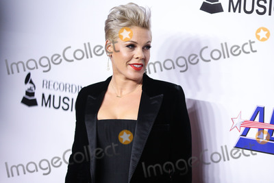Alecia Moore Photo - LOS ANGELES CA USA - FEBRUARY 08 Singer Pnk (Pink Alecia Moore) arrives at the 2019 MusiCares Person Of The Year Honoring Dolly Parton held at the Los Angeles Convention Center on February 8 2019 in Los Angeles California United States (Photo by Xavier CollinImage Press Agency)