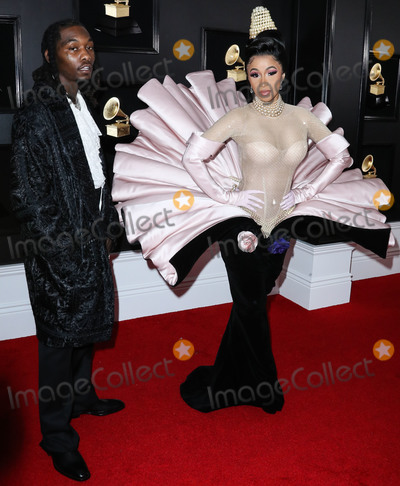 Grammy Awards Photo - (FILE) Cardi B Files for Divorce from Offset After 3 Years of Marriage LOS ANGELES CALIFORNIA USA - FEBRUARY 10 Rapper Offset (Kiari Kendrell Cephus) and wiferapper Cardi B (Belcalis Marlenis Almanzar) arrive at the 61st Annual GRAMMY Awards held at Staples Center on February 10 2019 in Los Angeles California United States (Photo by Xavier CollinImage Press Agency)