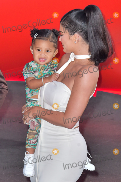 Travis Scott Photo - SANTA MONICA LOS ANGELES CALIFORNIA USA - AUGUST 27 Stormi Webster and mothertelevision personality Kylie Jenner arrive at the Los Angeles Premiere Of Netflixs Travis Scott Look Mom I Can Fly held at Barker Hangar on August 27 2019 in Santa Monica Los Angeles California United States (Photo by Image Press Agency)