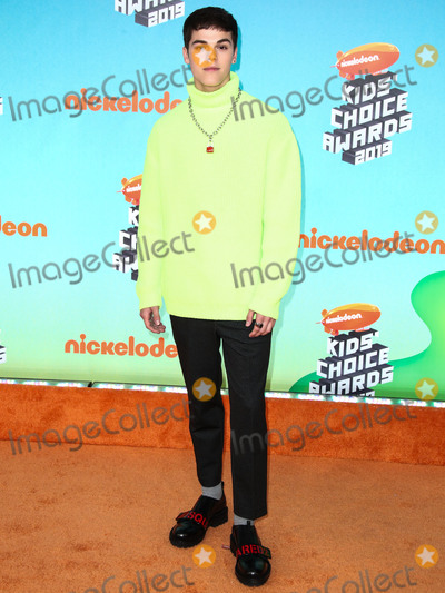 AJ Mitchell Photo - LOS ANGELES CA USA - MARCH 23 AJ Mitchell arrives at Nickelodeons 2019 Kids Choice Awards held at the USC Galen Center on March 23 2019 in Los Angeles California United States (Photo by Xavier CollinImage Press Agency)