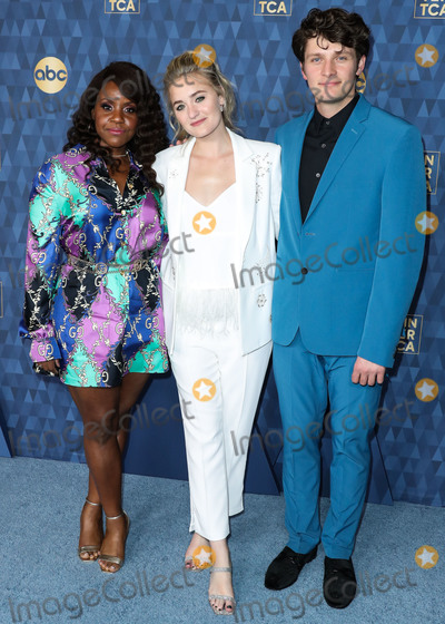 AJ Michalka Photo - PASADENA LOS ANGELES CALIFORNIA USA - JANUARY 08 Haneefah Wood AJ Michalka and Brett Dier arrive at ABC Televisions TCA Winter Press Tour 2020 held at The Langham Huntington Hotel on January 8 2020 in Pasadena Los Angeles California United States (Photo by Xavier CollinImage Press Agency)