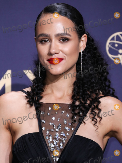 Nathalie  Photo - LOS ANGELES CALIFORNIA USA - SEPTEMBER 22 Nathalie Emmanuel poses in the press room at the 71st Annual Primetime Emmy Awards held at Microsoft Theater LA Live on September 22 2019 in Los Angeles California United States (Photo by Xavier CollinImage Press Agency)