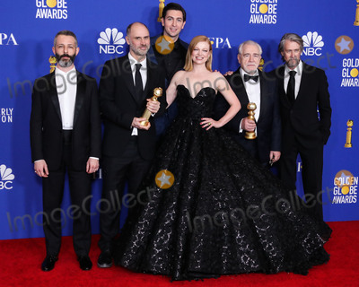 Brian Cox Photo - BEVERLY HILLS LOS ANGELES CALIFORNIA USA - JANUARY 05 Jeremy Strong Jesse Armstrong Nicholas Braun Sarah Snook Brian Cox and Alan Ruck pose in the press room at the 77th Annual Golden Globe Awards held at The Beverly Hilton Hotel on January 5 2020 in Beverly Hills Los Angeles California United States (Photo by Xavier CollinImage Press Agency)