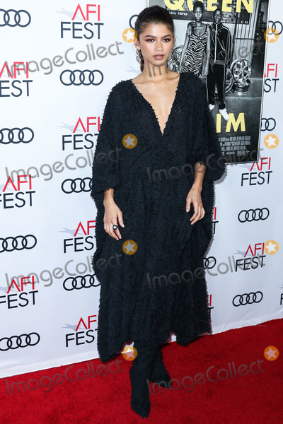Iman Photo - HOLLYWOOD LOS ANGELES CALIFORNIA USA - NOVEMBER 14 Actress Zendaya wearing Imane Ayissi Couture arrives at the AFI FEST 2019 - Opening Night Gala - Premiere Of Universal Pictures Queen And Slim held at the TCL Chinese Theatre IMAX on November 14 2019 in Hollywood Los Angeles California United States (Photo by Xavier CollinImage Press Agency)