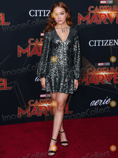 Sadie Stanley Photo - HOLLYWOOD LOS ANGELES CA USA - MARCH 04 Actress Sadie Stanley arrives at the World Premiere Of Marvel Studios Captain Marvel held at the El Capitan Theatre on March 4 2019 in Hollywood Los Angeles California United States (Photo by Xavier CollinImage Press Agency)