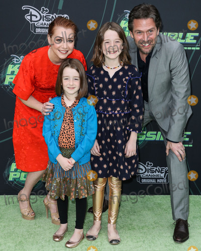 Alexis Denisof Photo - NORTH HOLLYWOOD LOS ANGELES CA USA - FEBRUARY 12 Alyson Hanningan Keeva Jane Denisof Satyana Marie Denisof and Alexis Denisof arrive at the Los Angeles Premiere Of Disney Channels Kim Possible held at the Saban Media Center at the Television Academy on February 12 2019 in North Hollywood Los Angeles California United States (Photo by Xavier CollinImage Press Agency)