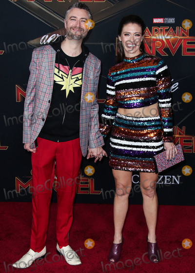 Natasha Halevi Photo - HOLLYWOOD LOS ANGELES CA USA - MARCH 04 Actor Sean Gunn and Natasha Halevi arrive at the World Premiere Of Marvel Studios Captain Marvel held at the El Capitan Theatre on March 4 2019 in Hollywood Los Angeles California United States (Photo by Xavier CollinImage Press Agency)