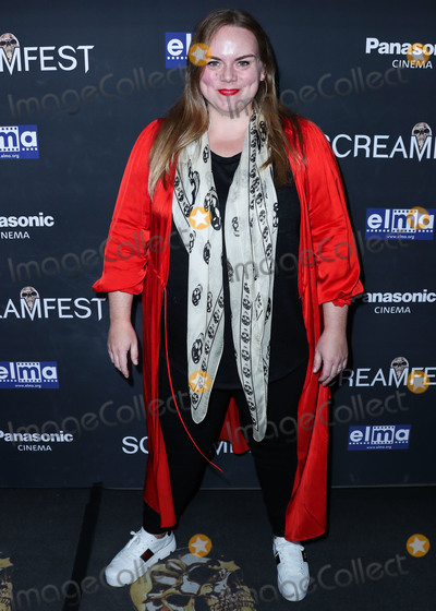 The Darkness Photo - HOLLYWOOD LOS ANGELES CALIFORNIA USA - OCTOBER 17 Actress Anna Megan Becker arrives at the Screamfest Closing Night Screening Of We Summon The Darkness held at TCL Chinese 6 Theatres on October 17 2019 in Hollywood Los Angeles California United States (Photo by Xavier CollinImage Press Agency)