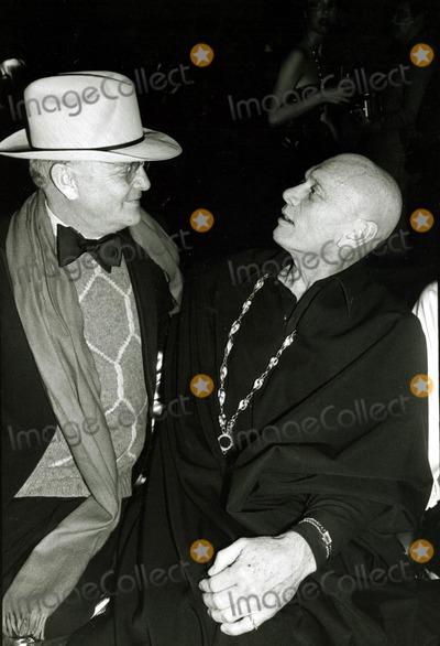 Yul Brynner Photo - Truman Capote and Yul Brynner at Studio 54 Globe Photos Inc