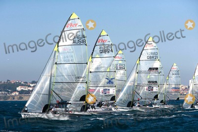 Paul Campbell Photo -  Cascais Portugal - Cascais 2007 Day 4 - Isaf Sailing World Championships in Picture 49er Class -John Pink Simon Wheeler Paul Campbell James Mark Asquith Uk Photo by Cityfiles-Globe Photos