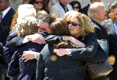 Heather Menzies Photo - Emeril Lagasse Hugs Heather Menzies (Left) Memorial Service For Actor Robert Urich St Charles Catholic Church North Hollywood CA April 19 2002 Photo by Nina PrommerGlobe Photos Inc2002