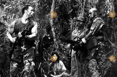 Elpidia Carrillo Photo - Arnold Schwarzegger Elpidia Carrillo Carl Weathers and Bill Duke in  Predator 1987 Supplied by Globe Photos Inc