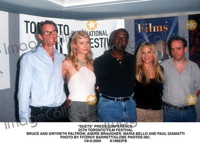 Andre Braugher Photo - Duets Press Conference 25th Toronto Film Festival Bruce and Gwyneth Paltrow Andre Braugher Maria Bello and Paul Giamatti Photo by Fitzroy BarrettGlobe Photos Inc 9-9-2000