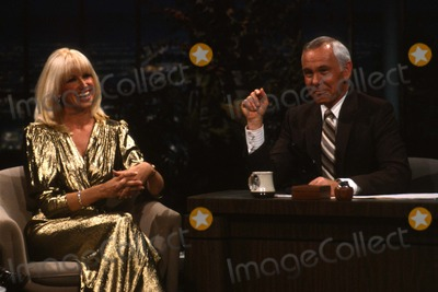 Johnny Carson Photo - Johnny Carson with Suzanne Sommers at the Tonight Show 1982 12350 Photo by Allan S Adler-ipol-Globe Photos Inc