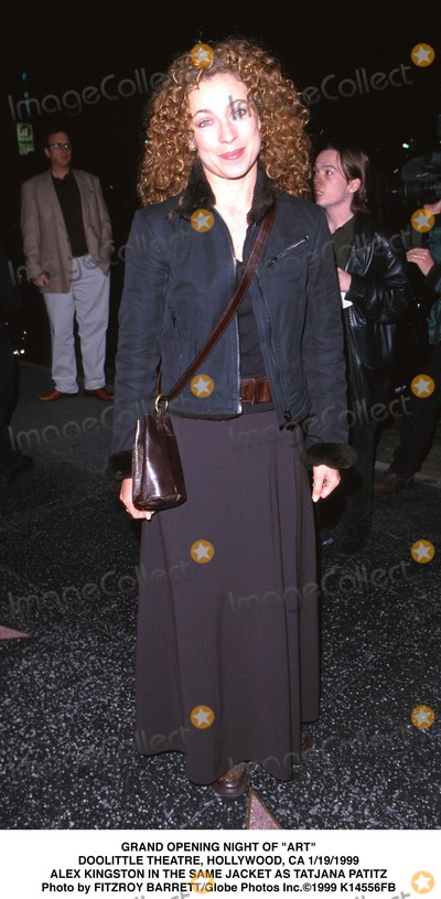 Alex Kingston Photo - 011999 Grand Opening Night of Art Doolittle Theatre Hollywood CA Alex Kingston in the Same Jacket As Tatjana Patitz Photo by Fitzroy BarrettGlobe Photos Inc