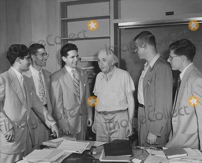 Albert Einstein Photo - Dr Albert Einstein and His Students Princeton NJ Early 1930s Globe Photos Inc
