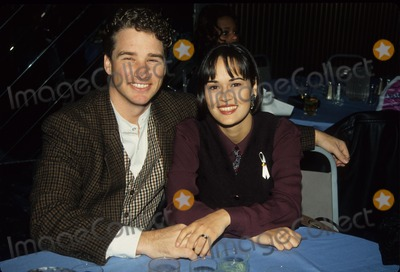Sydney Penny Photo - Sydney Penny with Fiance Robert Powers at St Marys Ann Benefit 1994 K0461 Photo by Ed Geller-Globe Photos Inc