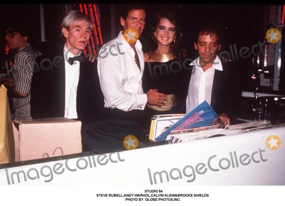 Andy Warhol Photo - Studio 54 Steve Rubellandy Warholcalvin Kleinbrooke Shields Photo by Globe Photosinc