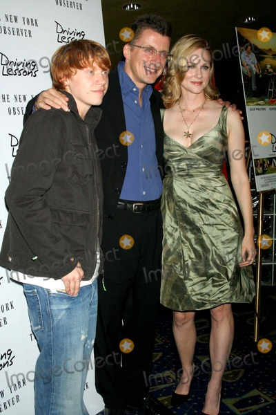 Jeremy Brock Photo - Premiere of the Movie  Driving Lessons Hosted by the New York Observer Clearview Chelsea West Theatre New York City 10-10-2006 Photo Mitchell Levy  Rangefinders  Globe Photos Inc 2006 Rupert Grint Jeremy Brock and Laura Linney
