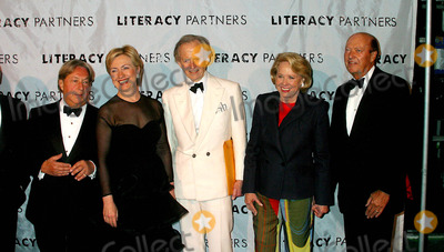 Arnold Scassi Photo - Literacy Partners Host 20th Annual Gala an Evening of Readings at Lincoln Center in New York City 5032004 Photo Byrick MacklerrangefindersGlobe Photosinc 2004 Arnold Scassi Hillary Clinton Tom Wolfe Liz Smith and Parker Ladd