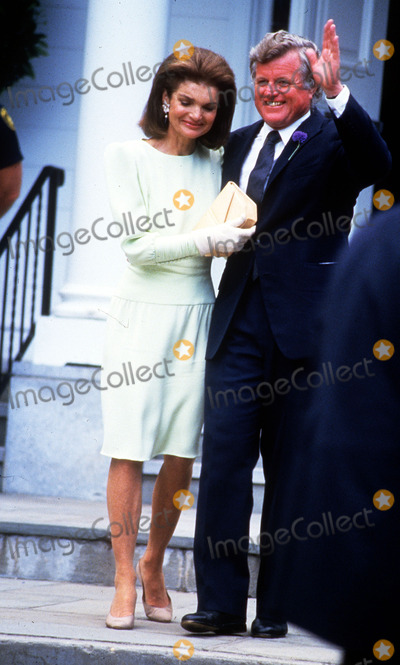 Jackie Onassis Photo - Jackie Onassis Ted Kennedy Photo by John BarrettGlobe Photos Inc