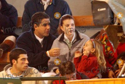 Athina Onassis Roussel Photo - Athina Onassis Roussel  Her Boyfriends Daughter Viviane -Equestrian Event Coruna Spain 12142003 Mero BarallalfaquiglobelinkukGlobe Photos Inc
