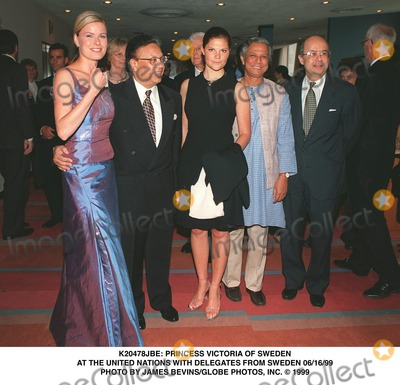 Princess Victoria of Sweden Photo -  Princess Victoria of Sweden at the United Nations with Delegates From Sweden 061699 Photo by James BevinsGlobe Photos Inc
