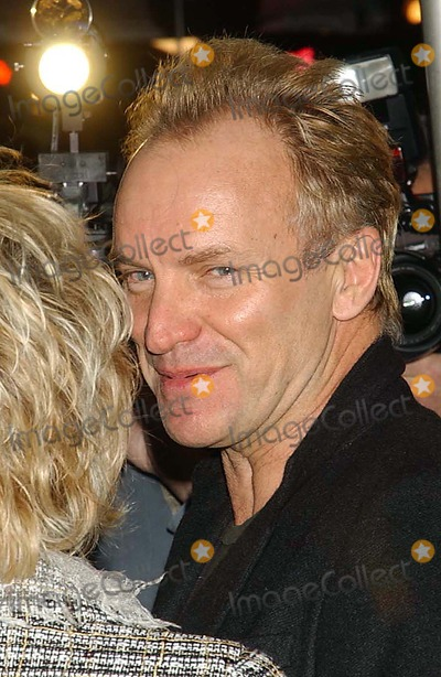 Sting Photo - the Premiere of Derailed at Loews Lincoln Square Theatre New York City 10-30-2005 Photo Ken Babolcsay-ipol-Globe Photos 2005 Sting