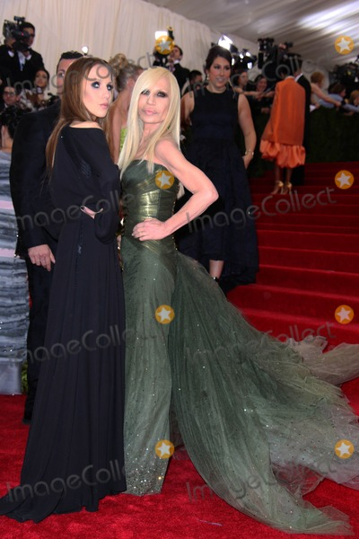Allegra Versace Photo - The Costume Institute Gala at the Metropolitan Museum of Art Celebrating the Opening of Charles Jamesbeyond Fashion May 5 2015 Photos by Sonia Moskowitz Globe Photos Inc 2014 Allegra Versace Donatella Versace